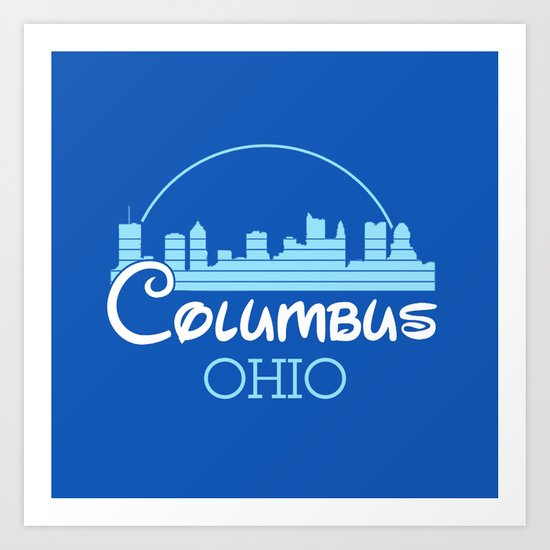 Columbus, Ohio Art Print