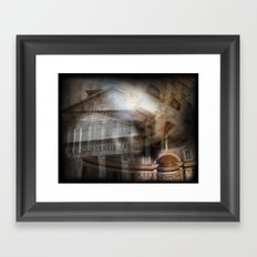 The Pantheon Rome Italy Framed Art Print
