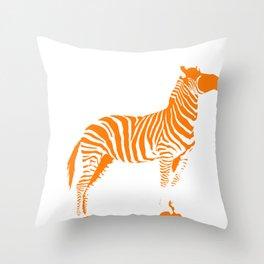 Animals Illustration Zebra Throw Pillow