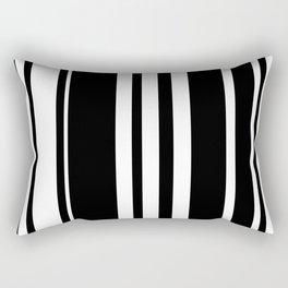 Black and white stripes 5 Rectangular Pillow
