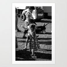 Little Girls at the Carnival Art Print