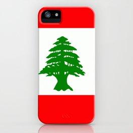 Flag of Lebanon iPhone Case