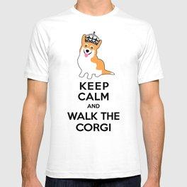 Keep Calm and Walk the Corgi T-shirt