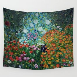 Flower Garden Riot of Colors by Gustav Klimt Wall Tapestry