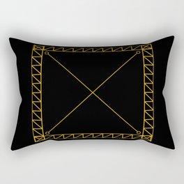 Gold Cross Rectangular Pillow