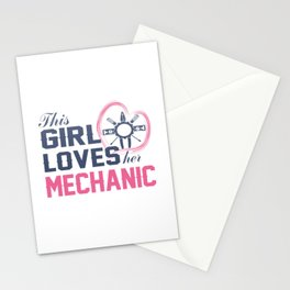 Loves Her Mechanic Stationery Cards