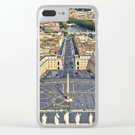 St Peter's Square in Rome, Italy Clear iPhone Case