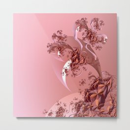 Romantic Mood with Abstract Rose Tree Metal Print