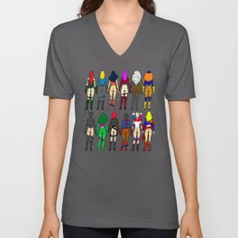 Superheroine Butts Unisex V-Neck