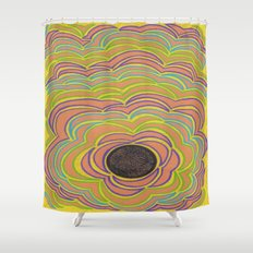 Center Circle Shower Curtain