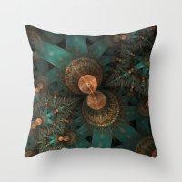 battlestar galactica Throw Pillows featuring galactica by Ancello
