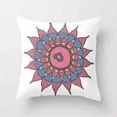 Abstract Sunflower Throw Pillow