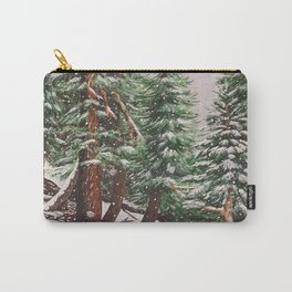 Snowing at Mount Baldy Carry-All Pouch