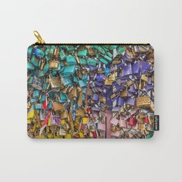 Pastel colored love locks in Paris | Noriko Aizawa Buckles Carry-All Pouch