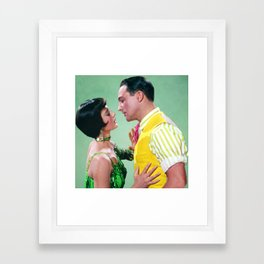 Gene Kelly & Cyd Charisse - Green - Singin' in the Rain Framed Art Print