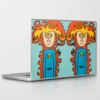 super hero Laptop & iPad Skins featuring Joe Pansa Super Hero by Joe Pansa