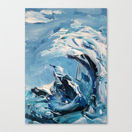 Rough Sea Wave Canvas Print