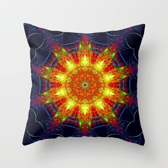 Kaleidoscope -  Network Throw Pillow