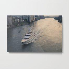 East River Yacht Metal Print
