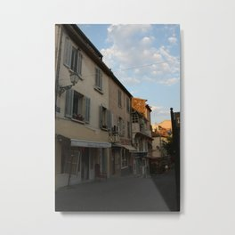 French Alley in Saint Tropez in the South of France, the Riviera en Provence ambiance was key! Metal Print