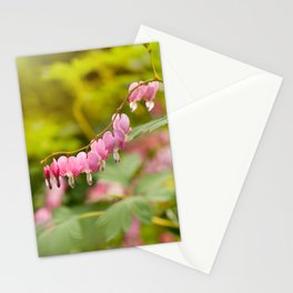 Lamprocapnos spectabilis dangle heart Stationery Cards