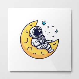 On The Moon Metal Print