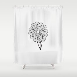 Bike Tree Shower Curtain