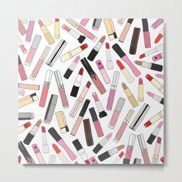 Lipstick Party - Light Metal Print