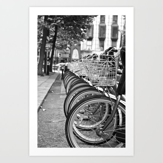 Bike Rack in Dublin Art Print