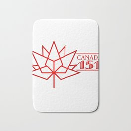 Happy Canada 1st July 151 Birthday Bath Mat