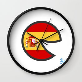 Spain Smile Wall Clock