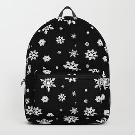 Snowflakes | Black & White Backpack