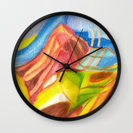 climb the mountain. the view is better up there Wall Clock