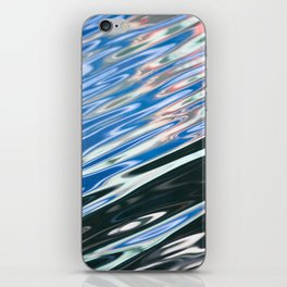 Blue Black Abstract Water iPhone Skin