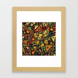 African Traditional Fabric Patterns Framed Art Print