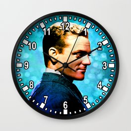James Cagney, blue screen Wall Clock