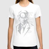 kafka T-shirts featuring Kafka portrait in Greys by aygeartist