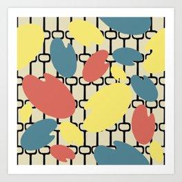Mid-Century Modern Art 6.0 Atomic Pattern Art Print