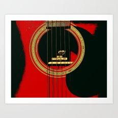 Guitar Sound Hole Art Print
