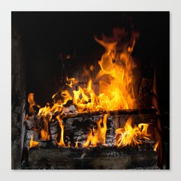 fireplace Canvas Print