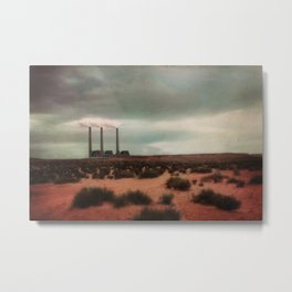 Amidst the Desert they Stand Alone Metal Print
