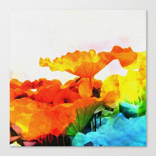 Enchanted Lotus Leaves Canvas Print