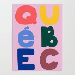 Mod Quebec Travel Poster Poster