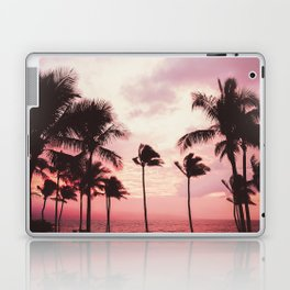 Tropical Palm Tree Pink Sunset Laptop & iPad Skin