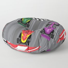 Race Cars Floor Pillow