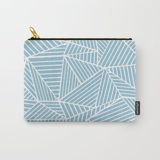 Ab Lines Sky Blue Carry-All Pouch