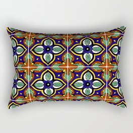 Talavera Mexican Tile Rectangular Pillow