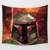 boba Wall Tapestries featuring Boba Fett by Eric Dufresne