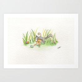Playful Art Print