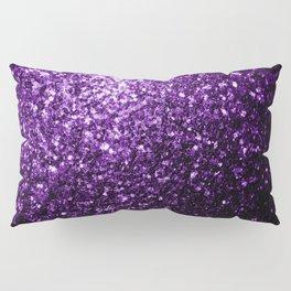 Beautiful Dark Purple glitter sparkles Pillow Sham
